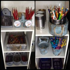 Myers' Kindergarten: Our Room: Recreating an Environment that Supports Learning Through Exploration Classroom Setup, Classroom Design, Classroom Organization, Organization Hacks, Organizing Tips, Crayon Storage, Teaching Resources, Teaching Ideas, Special Education