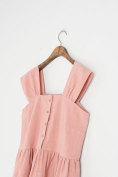 Olive - Linen Simple Pinafore Dress, Pink, £59.00 (https://www.oliveclothing.com/p-oliveunique-20170721-010-pink-linen-simple-pinafore-dress-pink)