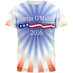 Election Martin O'Malley President 2016 All Over Adult T-Shirt
