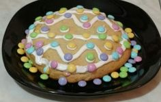 My Almost-Jumbo Easter Cookie   Oh Yes, They Did
