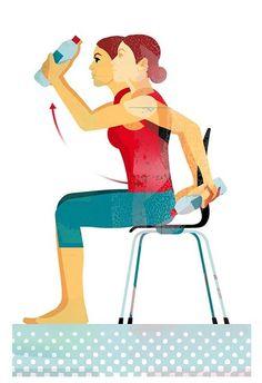 Ejercicios en casa: Mantente en forma haciendo ejercicio con una silla - Foto 2