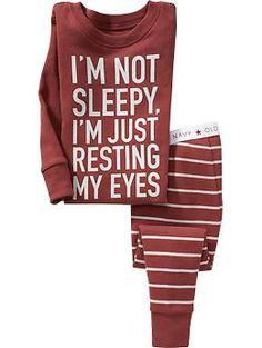 """Not Sleepy"" Sleep Sets for Baby | Old Navy"