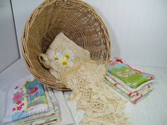 Vintage Old Lace & Faded Linens Collection in a by DivineOrders  #etsy #vintage