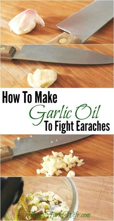 Amazing Remedies How to make garlic oil to fight earaches. This is an amazing home remedy! - Did you know you can make garlic oil to fight earaches? This easy recipe could save you time, money Home Remedies For Skin, Natural Cold Remedies, Garlic Oil For Ears, Garlic Benefits, Cough Remedies, Homeopathic Remedies, Homeopathic Medicine, Healing Herbs, Natural Healing
