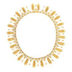 1stdibs | EUGENE FONTENAY Etruscan Revival Gold Fringe Antique Necklace