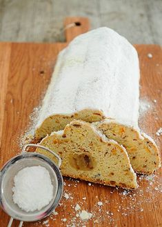 Mandelstollen mit Marzipan - traditional german stollen with almonds and marzipan.