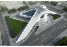 140 Futuristic Architecture That You Should Know - Fancytecture Conceptual Architecture, Parametric Architecture, Parametric Design, Futuristic Architecture, Amazing Architecture, Architecture Design, Shopping Mall Architecture, Airport Design, Mall Design