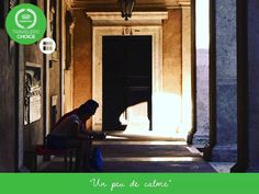 """""""Un peu di calme""""  #chiostrodebramante Via Arco della Pace 5 ingresso gratuito"""