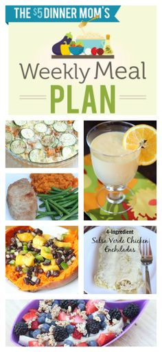 Free Weekly Meal Plan with Printable List ~ week of May 4th | 5DollarDinners.com