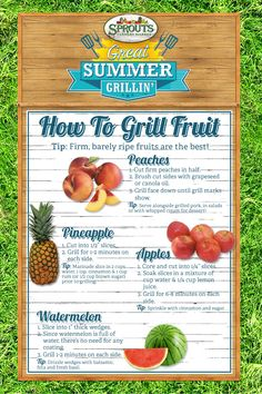 Have you tried grilled fruit? It's to die for!