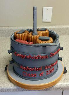Mechanical Engineer Graduation Cake #gradcake #mechanicalenginercake