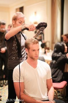 Backstage at TOM*. Davines is proud to have been the exclusive hair sponsor for the first ever Toronto Men's Fashion Week. #IAMTOM #TOMFW Photo credit Brian Lawrence for TOM*.