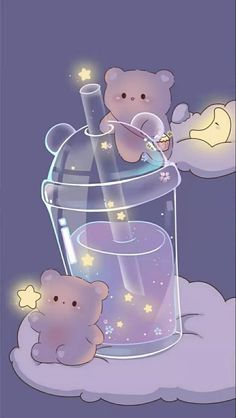 Love Wallpaper Backgrounds, I Wallpaper, Cute Anime Cat, Kawaii Background, Galaxy Painting, Anime Girl Drawings, Cute Chibi, Cute Bears, Cute Cartoon Wallpapers