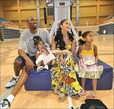 Kobe Bryant and his family. Kobe Bryant And Wife, Kobe Bryant Daughters, Kobe Bryant 8, Kobe Bryant Family, Lakers Kobe Bryant, Vanessa Bryant, Natalia Bryant, Love And Basketball, Kobe Basketball