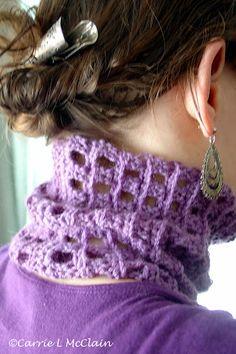 Ribbed Cowl free crochet pattern