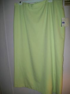 18 NWT$36 Sag Harbor lime green lined SKIRT w41 L35