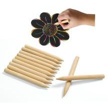 Discount School Supply - Scratch Designs Jumbo Wooden Art Sticks - Set of 48