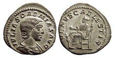 "Ancient Coins - AR denarius of Julia SOAEMIAS Augusta 218-222 AD., mother of Elagabalus, ""VENVS CAELESTIS"", Rome mint, near Mint State, RIC IV 243"
