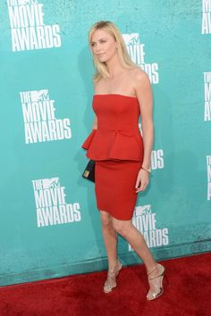 Charlize Theron wears LANCE to the 2012 MTV Movie Awards