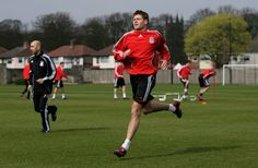 Steven Gerrard training hard at Melwood
