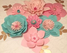 Items similar to Large Paper Flower, Light Coral, Wall Decor, Event Decor on Etsy