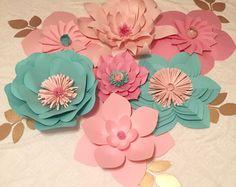 Plantilla de flor de papel Kit de bricolaje por PaperPoshEvents1