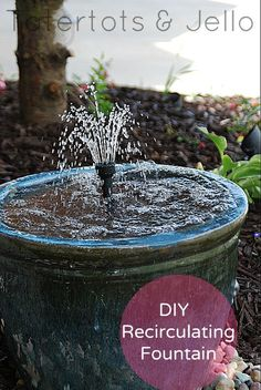 DIY Recirculating Ceramic Pot Fountain