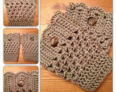 Crochet Boot Cuff by HMaesCrochet on Etsy