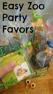 Zoo Birthday Party Favor Ideas from Lalymom