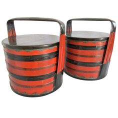 Pair of Chinese Food Baskets 1