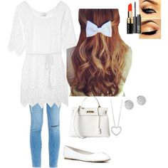 Untitled #225 by logicbaee6 on Polyvore featuring polyvore fashion style Miguelina Frame Denim ALDO Hermès Bobbi Brown Cosmetics NARS Cosmetics