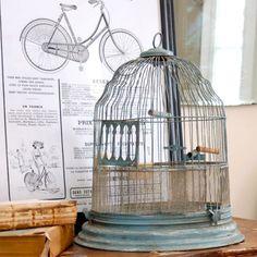 aqua bird cage, sfgirlbybay