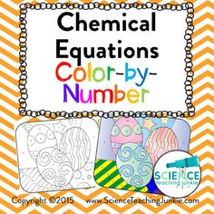 Balancing Equations ColorByNumber  Equation Number And Chemistry