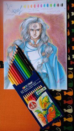 Teste feito com o lápis de cor Noris Club, da Staedtler.  Testando Material de Desenho e Pintura | PATRICIADO