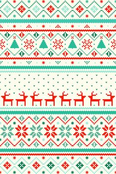 Festive Fair Isle Art Print by Tracie Andrews Wallpaper Natal, Holiday Wallpaper, Of Wallpaper, Pattern Wallpaper, Christmas Wallpaper For Iphone, Christmas Phone Backgrounds, Cute Backgrounds, Cute Wallpapers, Winter Wallpapers
