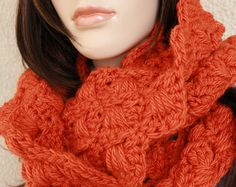 Crochet Scarf Pattern. TUTORIAL CROCHET PATTERN PDF FILE with detailed step-by-step written instructions in U.S. crochet terms, a lot of photos for your convenience, with tutorial pictures showing the stitches row by row made it so much easier to work with the pattern even for the beginner.  Skill level: Easy to Intermediate. Finished Measurements approximately: the length is 45 in (115 cm), the width is 7.5 in (19.5 cm). Decorated with beautiful crochet flower 4 in (10 cm) in diameter…