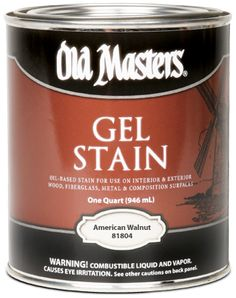 Old Masters - Wood Stains - Gel Stain - Specifically formulated for use on nonporous surfaces allowing you to stain fiberglass, metal and composition surfaces. Also suitable for wood. www.haguespaint.com