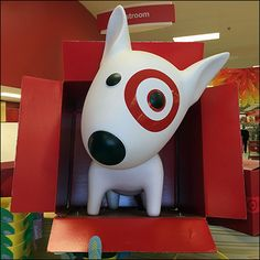 Since he fits in these boxes, this Target Bullseye The Dog promotion cycles through stores in sequence. I personally have never encountered more than one in a store at a time, even though I often v…