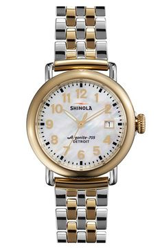 Shinola 'The Runwell' Bracelet Watch, 36mm available at #Nordstrom