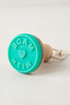"I MUST have this- ""made with love"" cookie stamp"