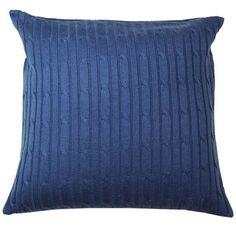 Almofada Tricot azul marinho