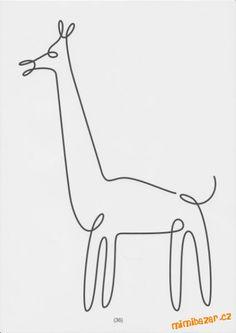 žirafa - jedním tahem