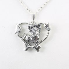 Sterling Silver Papillon Pendant by Donna Pizarro fr Animal Whimsey Collection of Sterling Silver Papillon Jewelry & Fine Papillon Jewelry