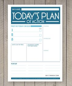 Printable Day Planner Organiser Agenda by SamOsborneStore on Etsy