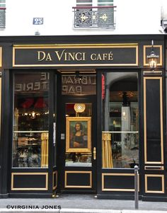 Da Vinci Cafe, 25 Rue des Saints Peres, 75006 Paris Paris Travel, France Travel, Shop Facade, Lokal, Paris Restaurants, Restaurant Bar, Cafe Bistro, Cafe Bar, Bistros