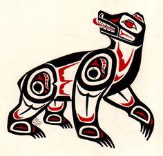 Haida Bear by Finnaverre.deviantart.com on @deviantART