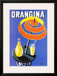 Orangina Póster por Bernard Villemot en AllPosters.com.ar.