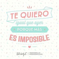 Como mañana, pasado mañana o el otro… #mrwonderful #quote #love