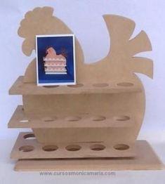 country-madera-gallina-huevera / eierrek