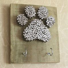 Simple Crafts for Paw Print Art is part of Cork crafts Dog - As I sit and stare at this blank wall in my family room, my mind starts overflowing with ideas ; a Simple Crafts project is what I need What to do Refurbis… Dog Crafts, Easy Crafts, Diy And Crafts, Arts And Crafts, Felt Crafts, Paw Print Art, Art Prints, Paw Print Crafts, Paw Print Nails